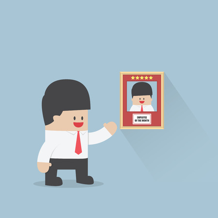 Employee of the month award, Business concept, VECTOR, EPS10