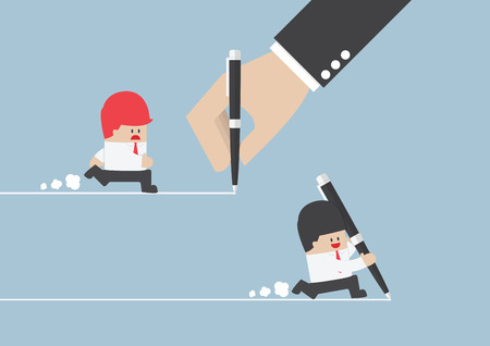 Businessman create own way to success, VECTOR,