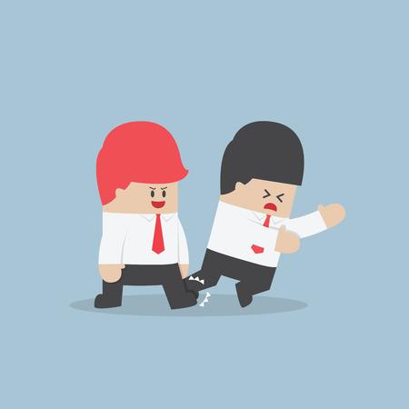 stumble: Businessman trip his friend up, VECTOR Illustration