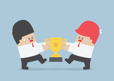 Businessmen fight for the trophy VECTOR EPS10