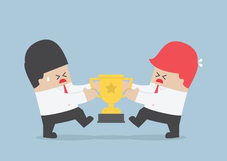 pelea: Los empresarios luchan por el trofeo VECTOR EPS10