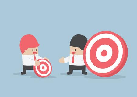 Businessman has bigger target than his friend, VECTOR, EPS10