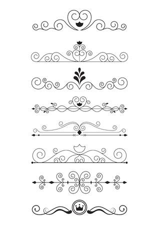 curve line: Curve line designs elements and page decoration Illustration