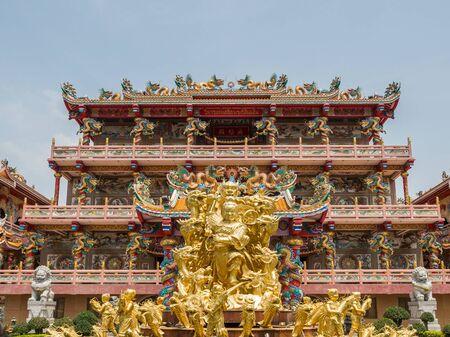 Naja Chinese temple (Najasataisue Chinese Shrine) at Chonburi, Thailand Editorial