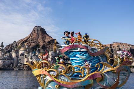 TOKYO, JAPAN - November 21, 2018: Tokyo Disney Sea Show on the water.