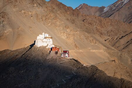 Namgyal Tsemo Gompa, buddhist monastery in Leh, located in northern India state of Jammu and Kashmir, India.