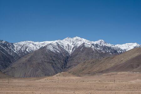 The snow mountain range around Leh city located in northern India state of Jammu and Kashmir, India. 版權商用圖片