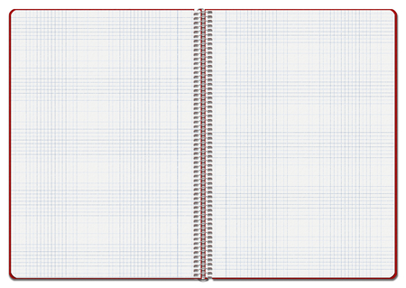 Illustration of an opened red checkered notebook. Suitable for use as background Stock Photo