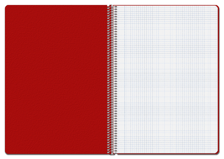 commonplace: Illustration of an opened red checkered notebook. Suitable for use as background Stock Photo