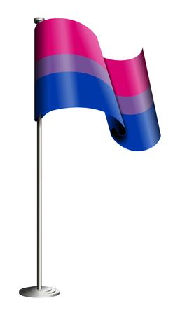 transexual: Bisexuales vector bandera del orgullo aislado en blanco. Todos los elementos ordenados y agrupados en capas