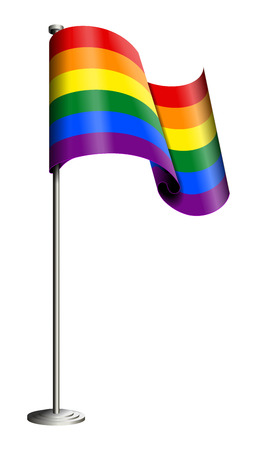femme: Gay pride flag vector isolated on white. All elements sorted and grouped in layers