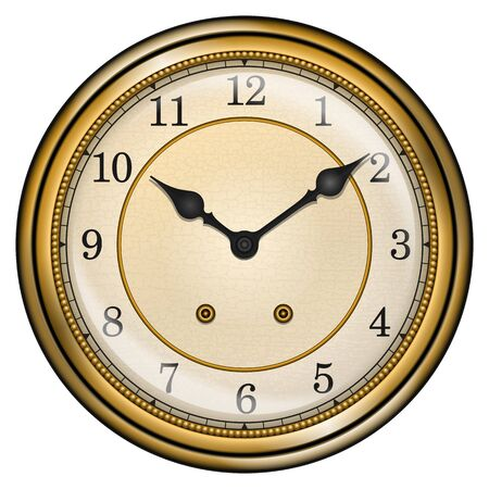 sorted: Antique clock isolated on white vector. All elements sorted and grouped in layers