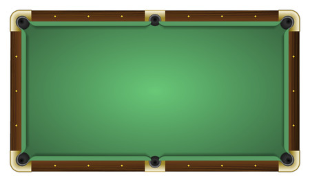 pocket billiards: Realistic vector illustration of a empty green pool table. All elements sorted and grouped in layers Illustration
