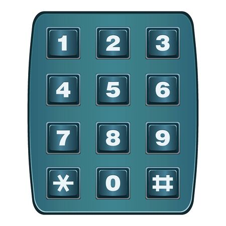 sorted: Classic landline telephone keypad isolated on white . All elements sorted and grouped in layers