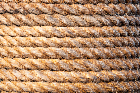 Old sailboat rope background texture. Landscape version