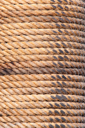 Old sailboat rope background texture. Portrait version Banco de Imagens
