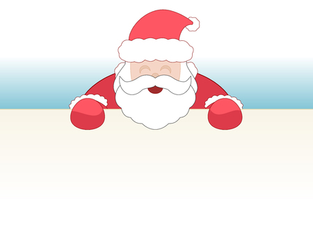 Christmas Santa frame with blank space for your contents.