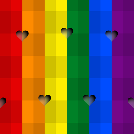 Seamless background with the colors of LGBT Rainbow Flag