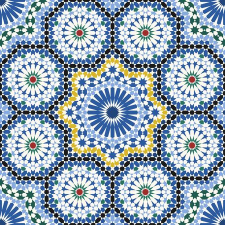 Arabic tile pattern. Design of a tile based on islamic traditional art. All elements sorted and grouped in layers