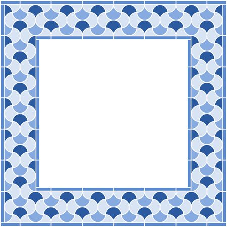 Square arabic frame based on islamic traditional art. All elements sorted and grouped in layers