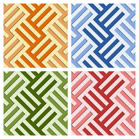 Arabic tile pattern. 4 different designs of seamless patterns based on islamic traditional art. All elements sorted and grouped in layers for easy edition
