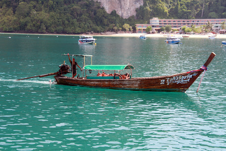 long tailed boat: Long tailed boat at Phi Phi island