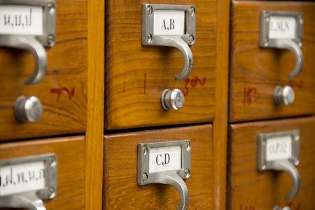 retrieval: Catalog card is inside