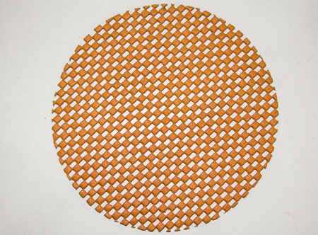 Orange net circular made from rubber foam Stock Photo