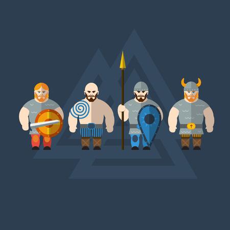 vikings: Vikings plats Illustration