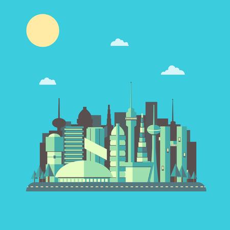 future: Future City Landscape Illustration