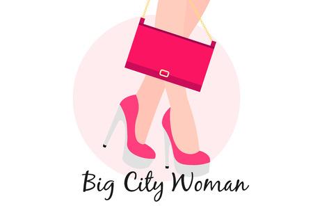 beau: Big City Woman. Conceptual flat vector illustration.