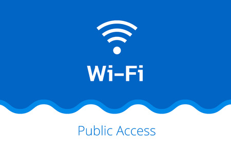 whiteblue: white Wi-Fi icon on a white-blue background with abstract wave