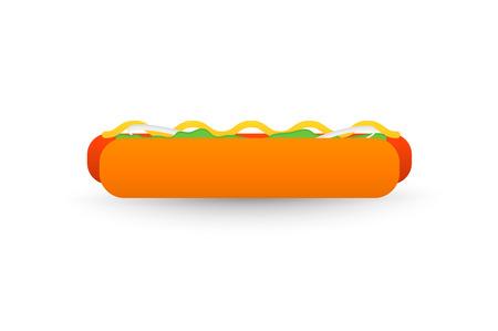 20: Tasty Hotdog, isolated on white background flat 2.0 vector icon
