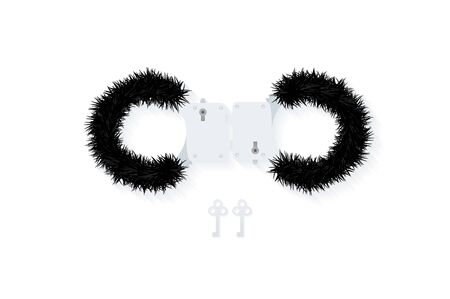 fluffy: BDSM fluffy handcuffs,element to immobilize partner.