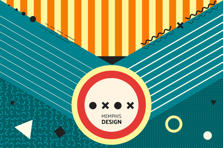 souvenir: Sacred envelope. Hipster abstract vector background. Memphis style. Template for banner, poster, card, souvenir, flyer, brochure, t-shirt.