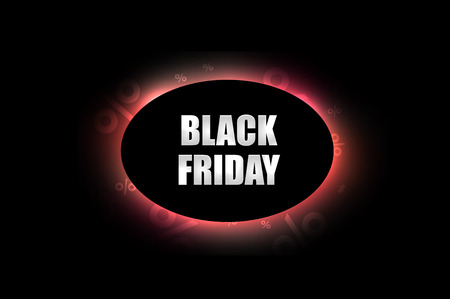 lighting effect: Black Friday sale decoration with abstract lighting effect on black background. Promotional design template.