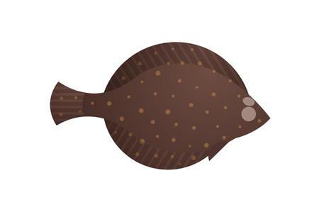 halibut: Cute Halibut Flounder Flatfish