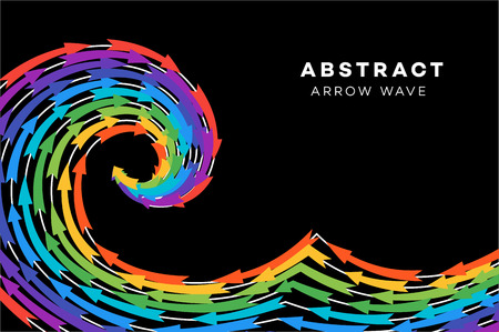 Abstract Rainbow Wave With Arrows.
