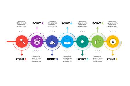 Layered Horizontal Infographic Timeline.