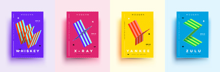 Modern Typographic Colorful Covers.