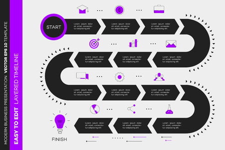 Layered Infographic Timeline vector illustration