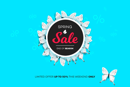 Final Spring Sale. Modern Conceptual Vector Illustration. Promotion Template For Banners, Posters, Gift Cards 矢量图像