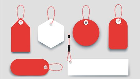 Flat Paper Sale Tags. Set Of Isolated Vector Sale Labels. Christmas Sale Tags.Vector Design Elements.