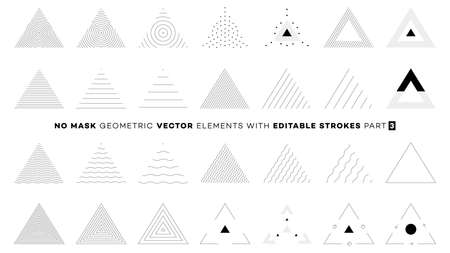 Vector perfect figures for memphis design. No mask design elements with editable outline stroke. Animation friendly. Make your own memphis design