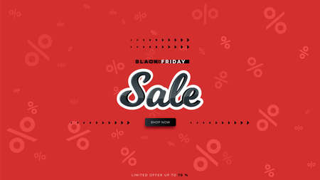 Black friday sale text design. Abstract vetor promotional background Vettoriali