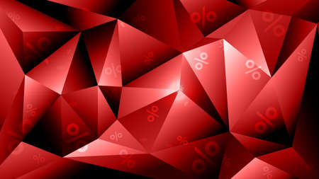 3d geometric vector polygonal background for sale invitation. Blsck friday sale template