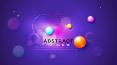 Modern abstract vector background. Abstract geometric liquid neon glow illustration