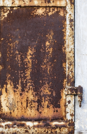 Rusty Metal Door Stock Photo - 17412017