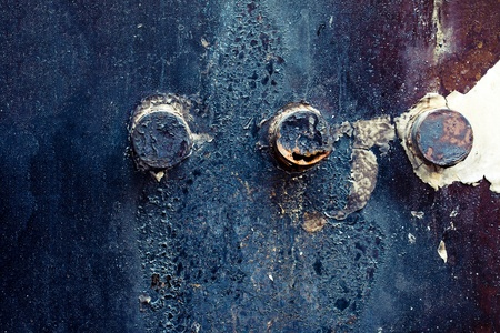 Rusty Metal Door Stock Photo - 17413167