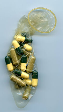 Condom Full of Pills photo